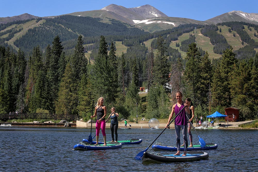 Paddleboarding on Lake Dillon