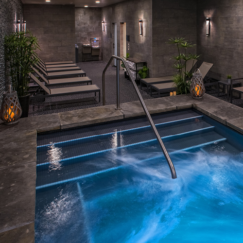 the grotto at Infinity Spa